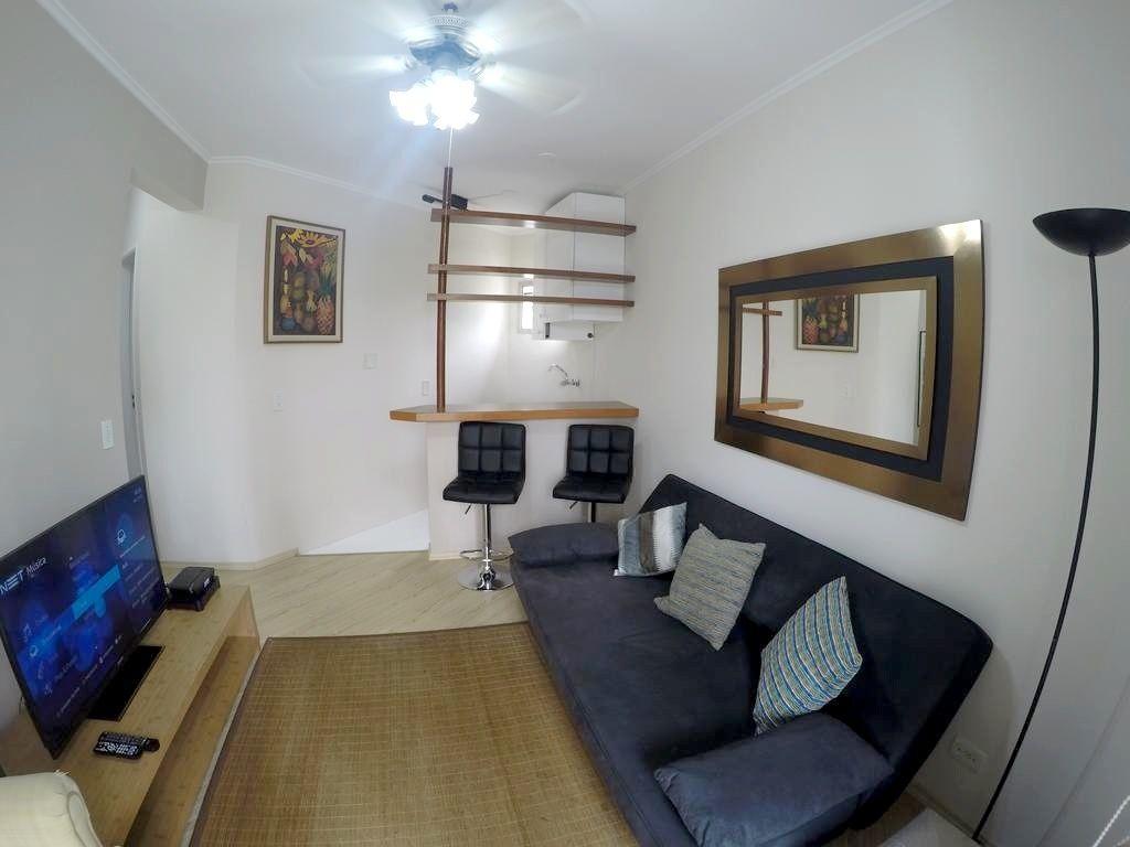Flat de 1 dormitório em Ibirapuera, São Paulo - SP