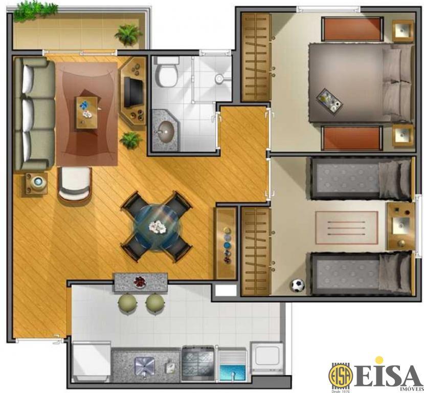 Cobertura de 2 dormitórios à venda em Carandiru, Sã?o Paulo - SP