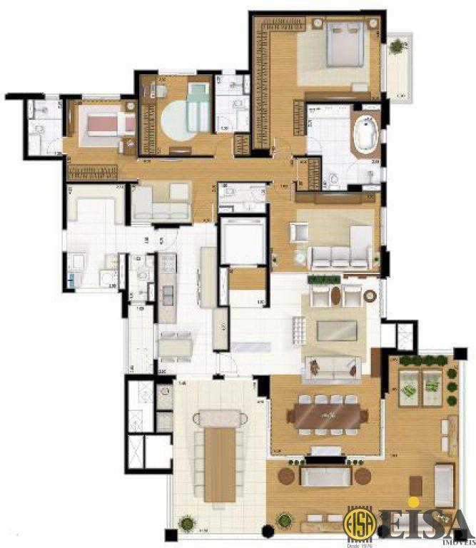 Cobertura de 3 dormitórios em Jardim Anã?lia Franco, Sã?o Paulo - SP