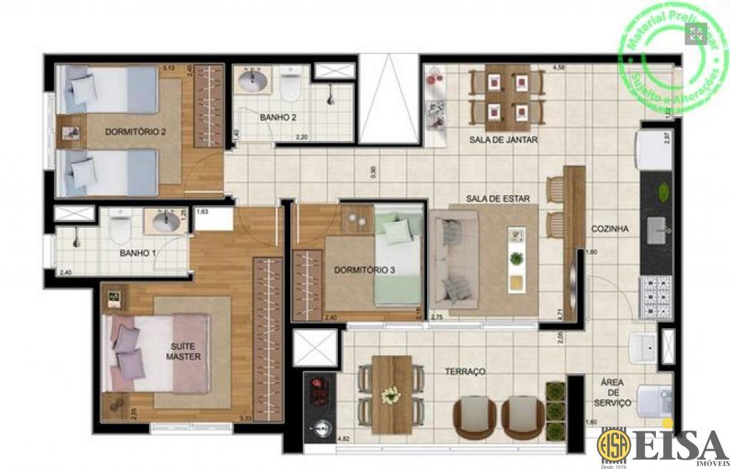Cobertura de 3 dormitórios em Vila Nova Mazzei, Sã?o Paulo - SP