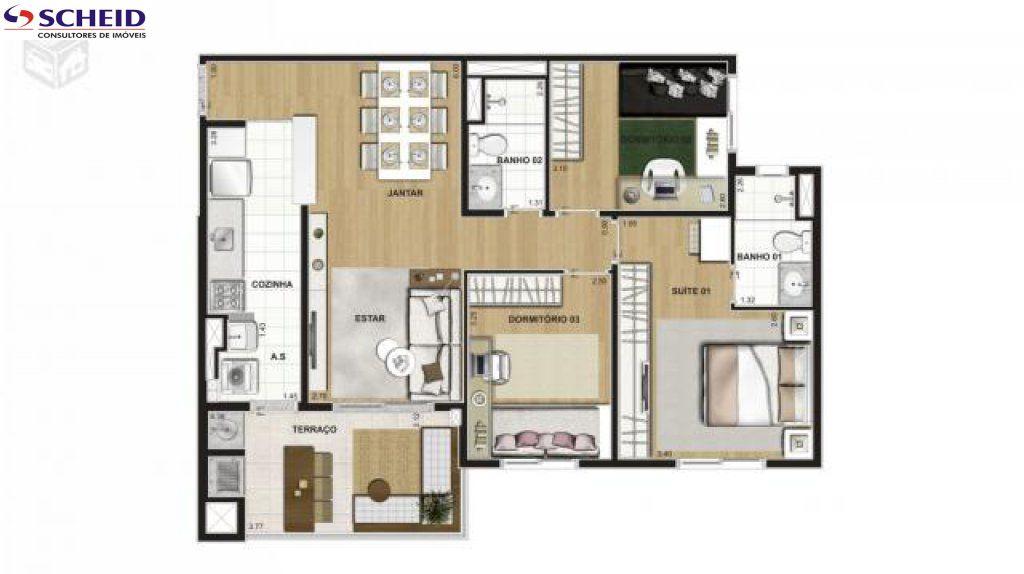 Apartamento de 2 dormitórios à venda em Vila Isa, São Paulo - SP