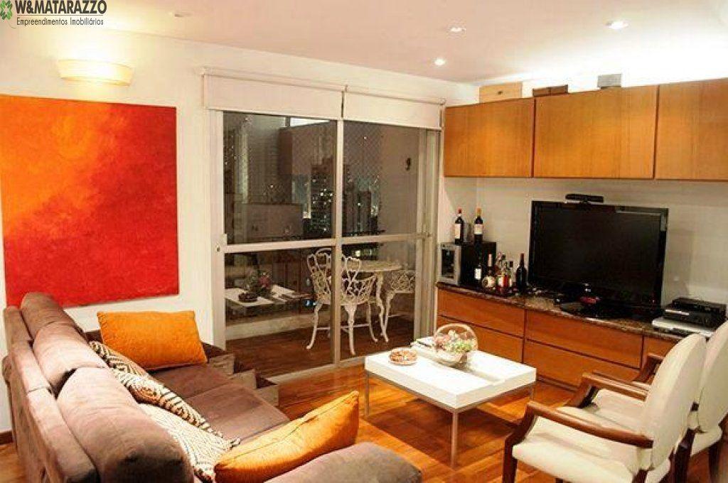 Apartamento Brooklin Paulista 2 dormitorios 2 banheiros 2 vagas na garagem