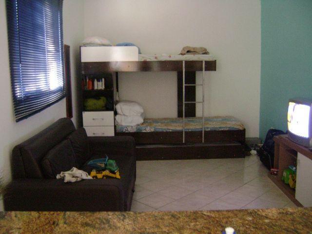 Sala ang 02 do kitinet com 1 dormitórios em TUPI - PRAIA GRANDE