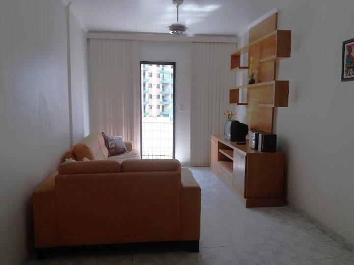 Sala do apartamento com 2 dormitórios em TUPI - PRAIA GRANDE
