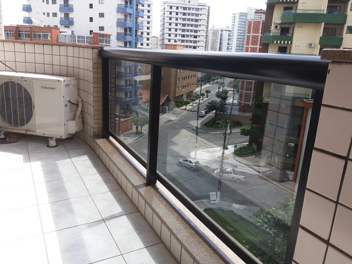 Terraço sala do apartamento com 2 dormitórios em TUPI - PRAIA GRANDE