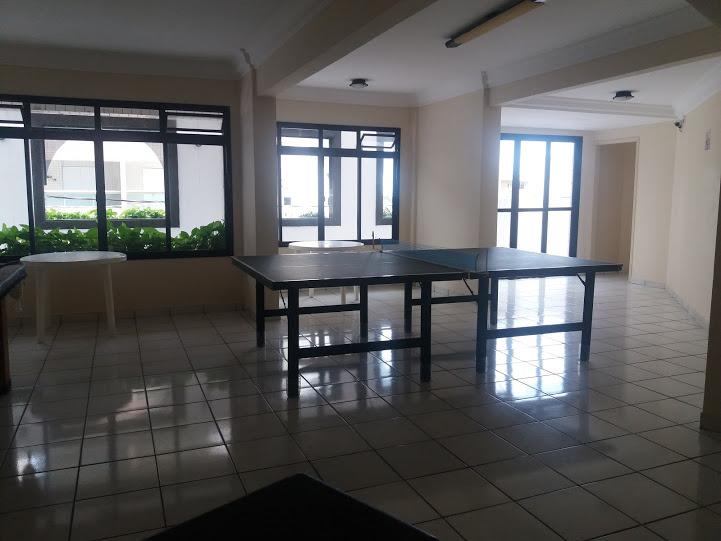 Salão de festas e jogos do apartamento com 2 dormitórios em TUPI - PRAIA GRANDE