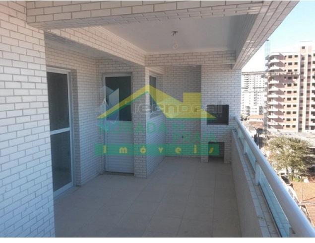 Churrasqueira do apartamento com 3 dormitórios em GUILHERMINA - PRAIA GRANDE