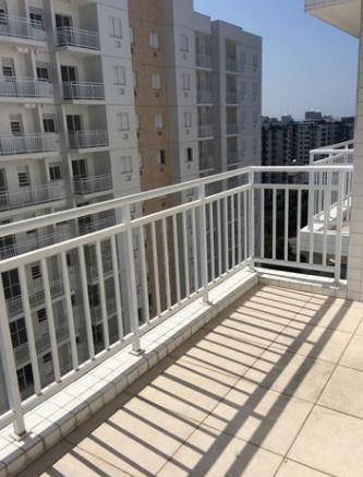 Terraço do apartamento com 2 dormitórios em OCIAN - PRAIA GRANDE