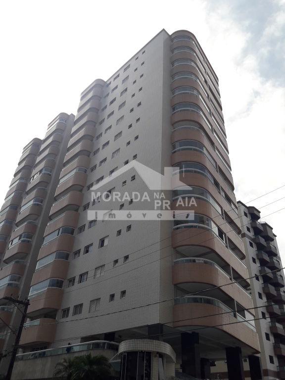 Fachada do apartamento com 1 dormitórios em AVIAÇÃO - PRAIA GRANDE