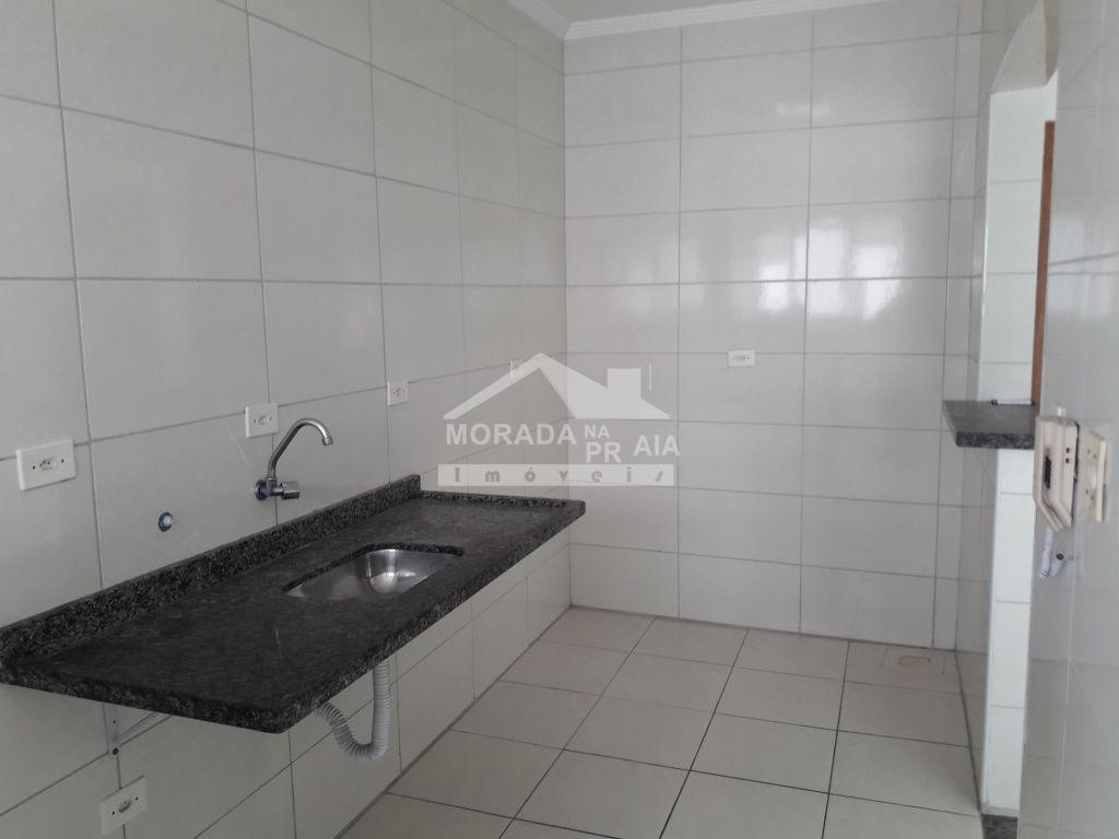 Cozinha do apartamento com 1 dormitórios em Campo da Aviação - Praia Grande