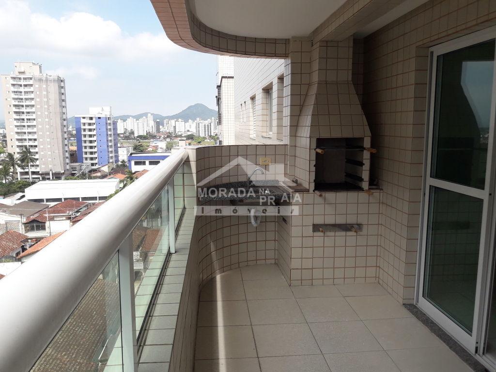 Sacada do apartamento com 1 dormitórios em Campo da Aviação - Praia Grande