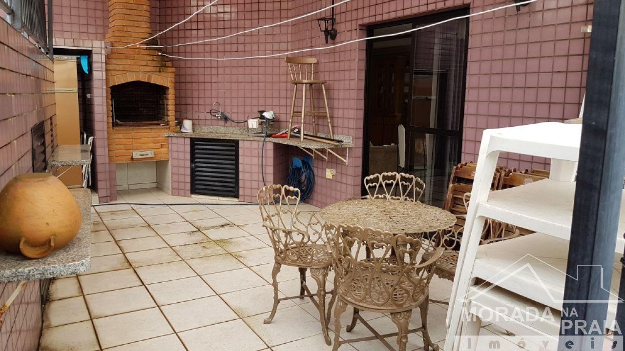 Cozinha do cobertura com 3 dormitórios em Canto do Forte - Praia Grande