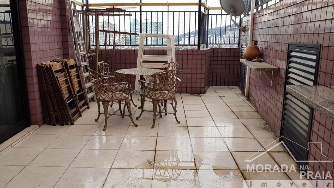 WC social do cobertura com 3 dormitórios em Canto do Forte - Praia Grande