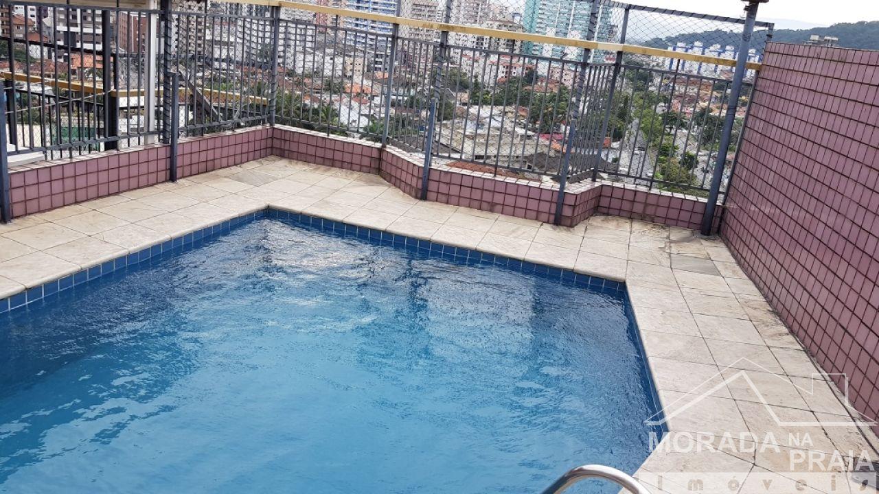Suíte 01 do cobertura com 3 dormitórios em Canto do Forte - Praia Grande