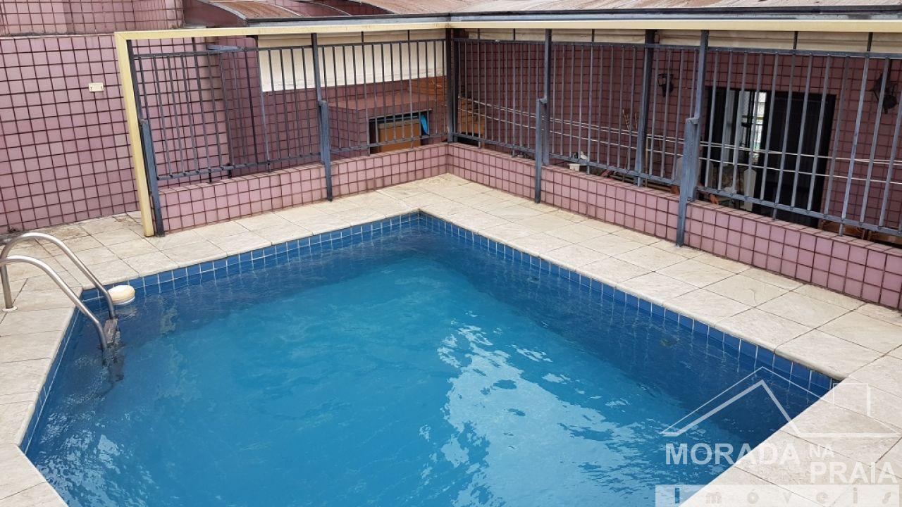 Suíte 01 ang 02 do cobertura com 3 dormitórios em Canto do Forte - Praia Grande