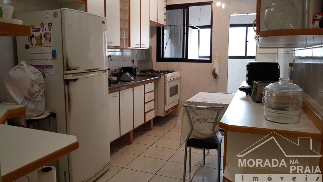 Sacada da suíte 01 do cobertura com 3 dormitórios em Canto do Forte - Praia Grande