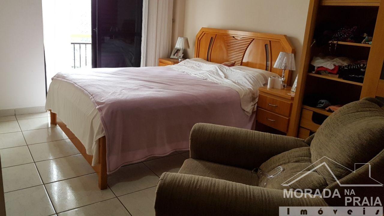Sacada do dormitório 02 do cobertura com 3 dormitórios em Canto do Forte - Praia Grande