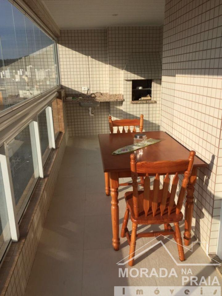 Sacada da sala do apartamento com 2 dormitórios em Boqueirão - Praia Grande
