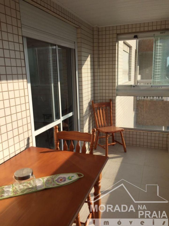Sacada da sala ang 02 do apartamento com 2 dormitórios em Boqueirão - Praia Grande
