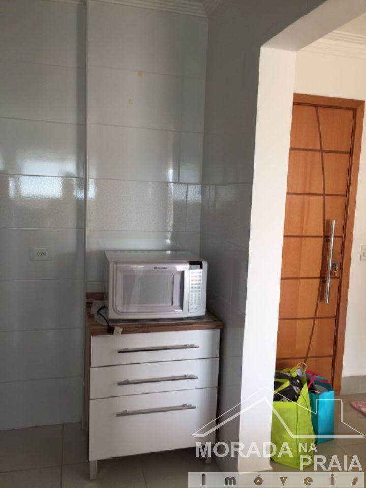 Sala e cozinha do apartamento com 2 dormitórios em Boqueirão - Praia Grande