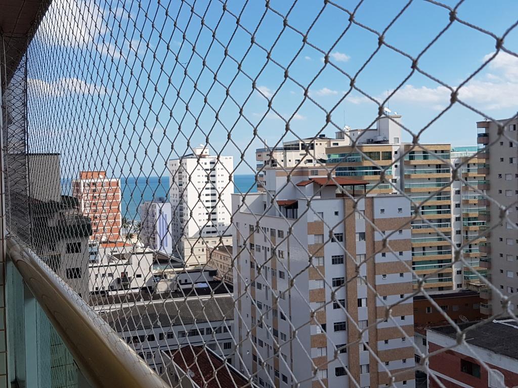 Vista da sala do apartamento com 2 dormitórios em TUPI - PRAIA GRANDE