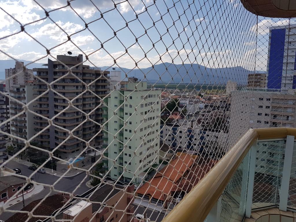 Vista sala ang 02 do apartamento com 2 dormitórios em TUPI - PRAIA GRANDE