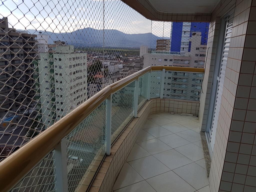 Sacada da suíte do apartamento com 2 dormitórios em TUPI - PRAIA GRANDE
