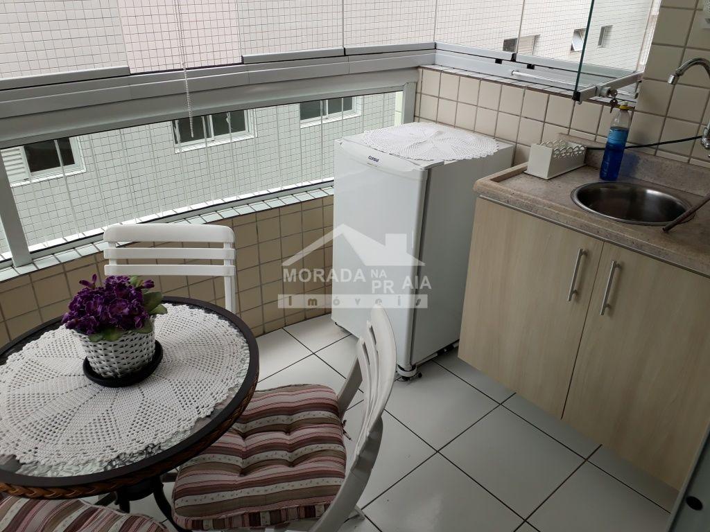 Sacada Gourmet do apartamento com 2 dormitórios em GUILHERMINA - PRAIA GRANDE