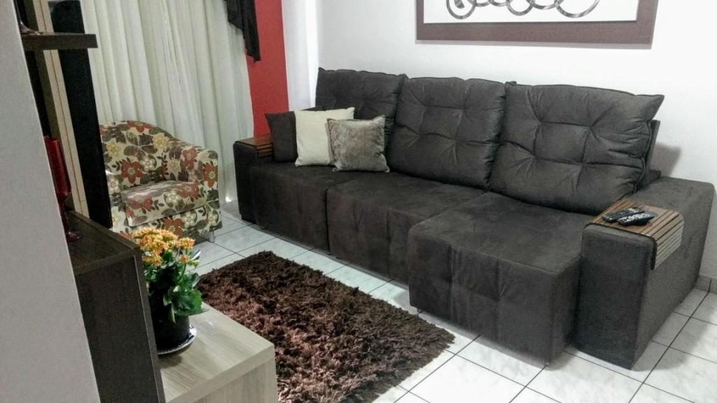 Sala ang 02 do apartamento com 2 dormitórios em OCIAN - PRAIA GRANDE