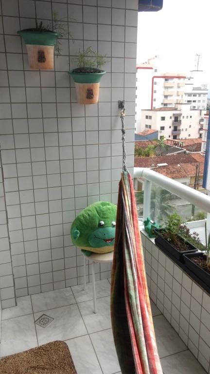 Sacada do apartamento com 2 dormitórios em OCIAN - PRAIA GRANDE