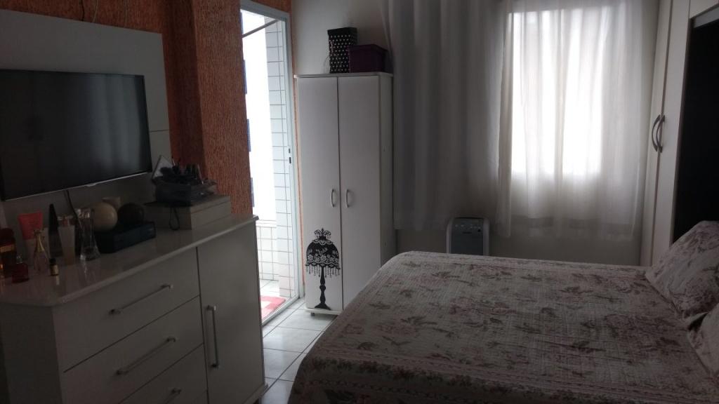 Dormitório 01 do apartamento com 2 dormitórios em OCIAN - PRAIA GRANDE