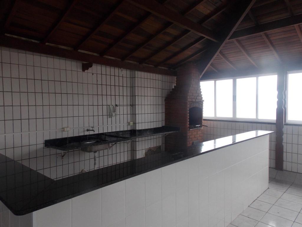 Cozinha do salão do apartamento com 2 dormitórios em OCIAN - PRAIA GRANDE
