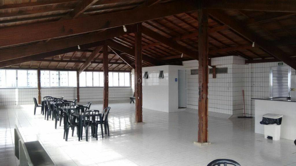 Salão de festas ang 02 do apartamento com 2 dormitórios em OCIAN - PRAIA GRANDE