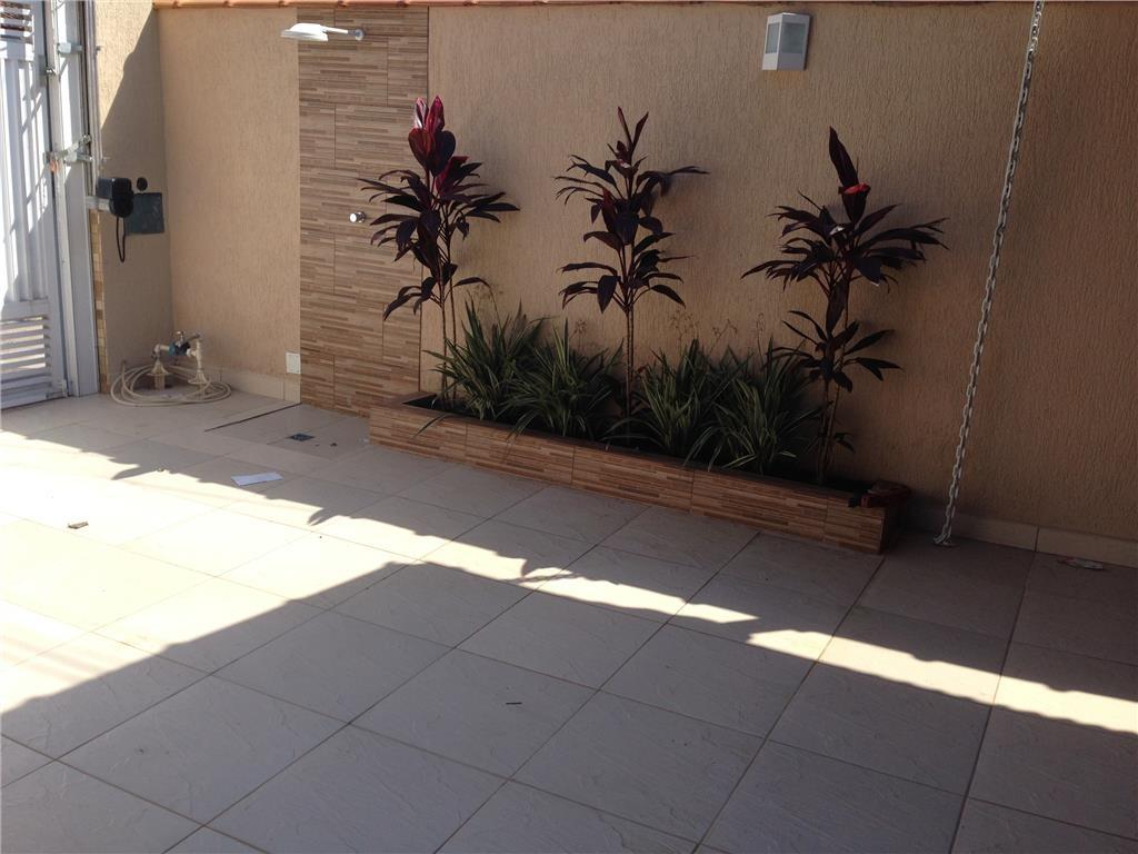Jardim do casa geminada com 3 dormitórios em CANTO DO FORTE - PRAIA GRANDE