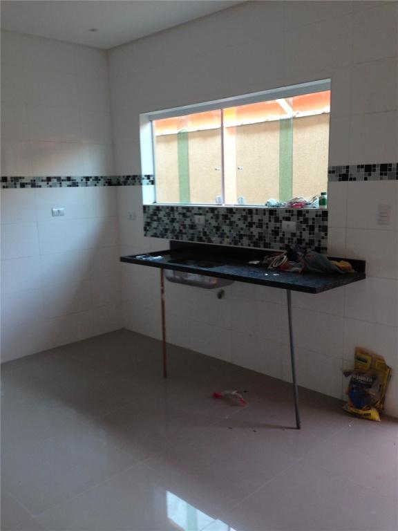 Cozinha do casa geminada com 3 dormitórios em CANTO DO FORTE - PRAIA GRANDE