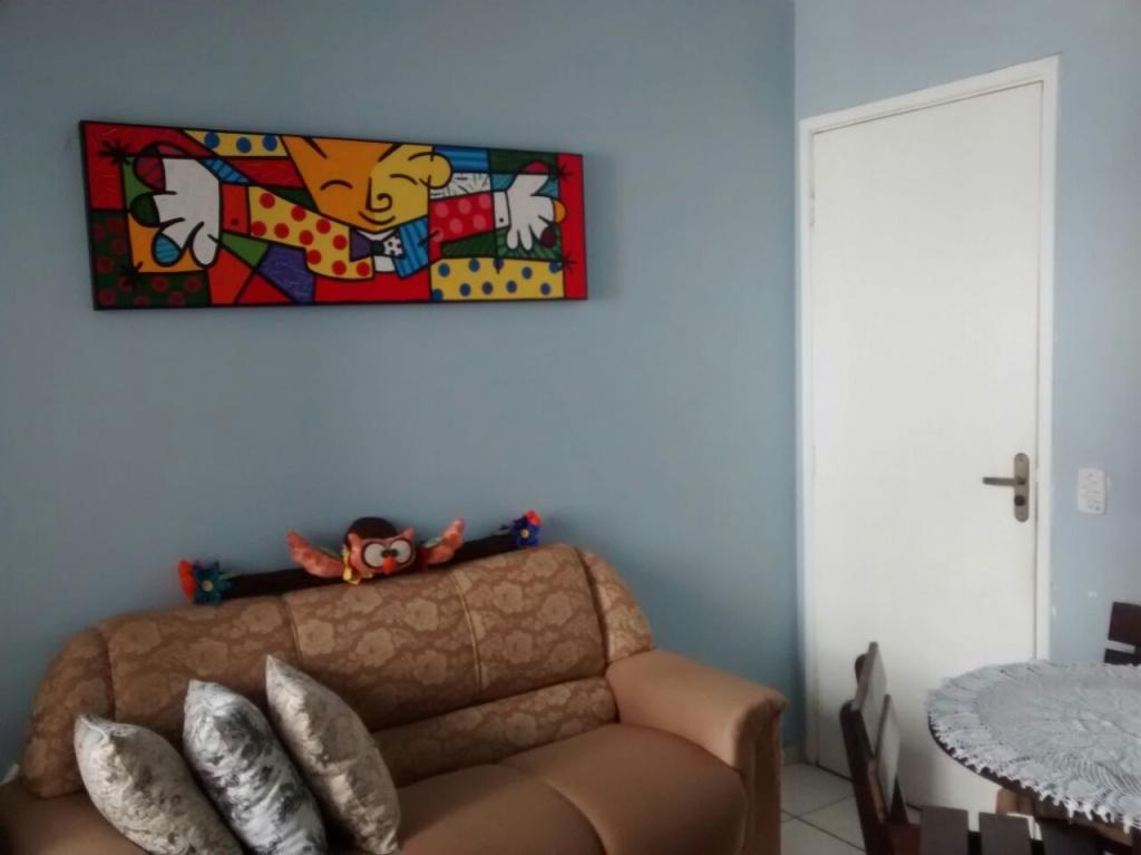 Sala ang 02 do apartamento com 2 dormitórios em VILA SONIA - PRAIA GRANDE