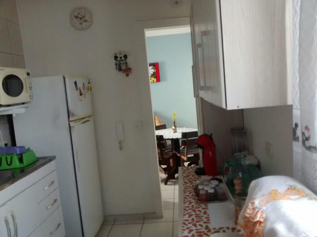 Cozinha do apartamento com 2 dormitórios em VILA SONIA - PRAIA GRANDE
