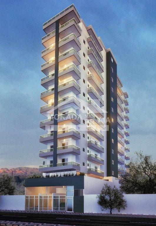 Fachada do apartamento com 1 dormitórios em BOQUEIRÃO - PRAIA GRANDE