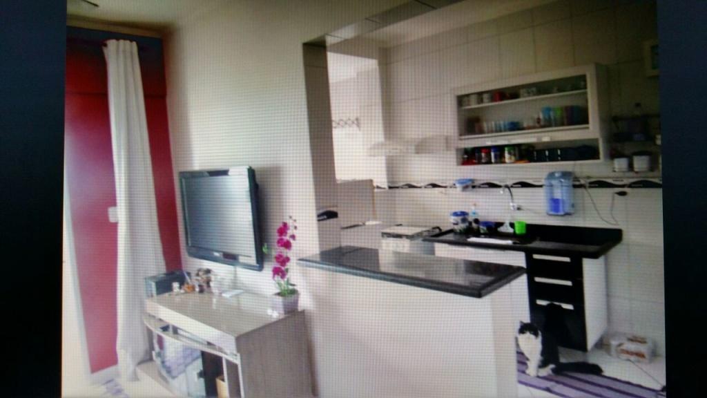 Sala do apartamento com 2 dormitórios em OCIAN - PRAIA GRANDE
