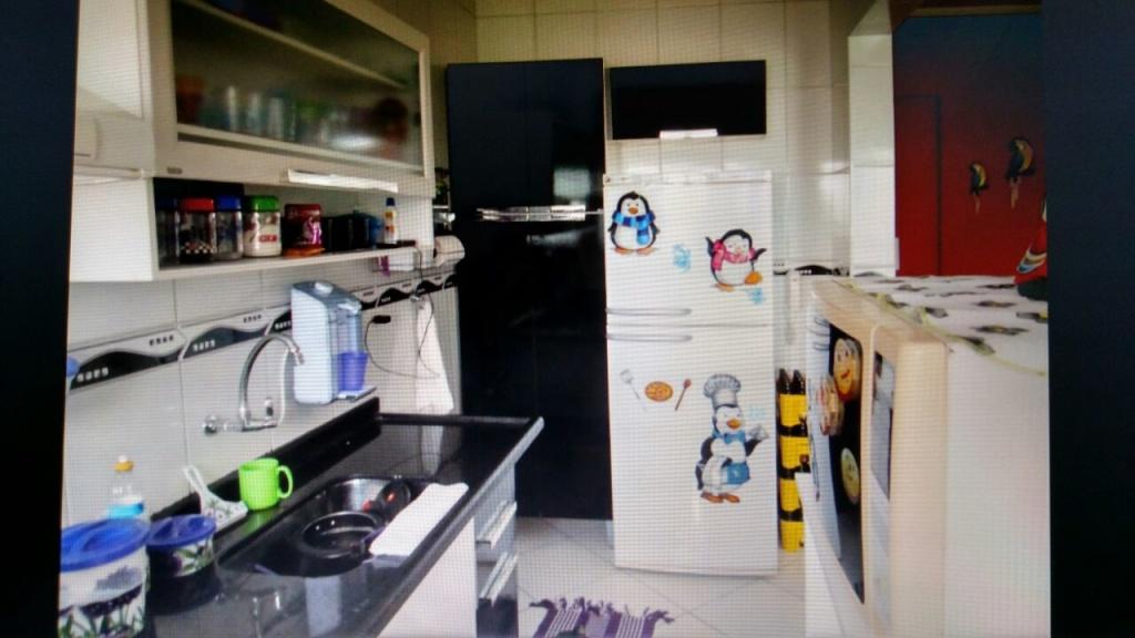 Cozinha do apartamento com 2 dormitórios em OCIAN - PRAIA GRANDE