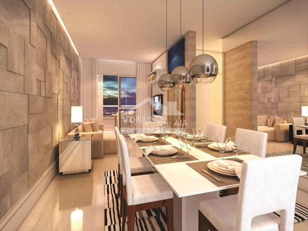 Sala do apartamento com 2 dormitórios em CAIÇARA - PRAIA GRANDE