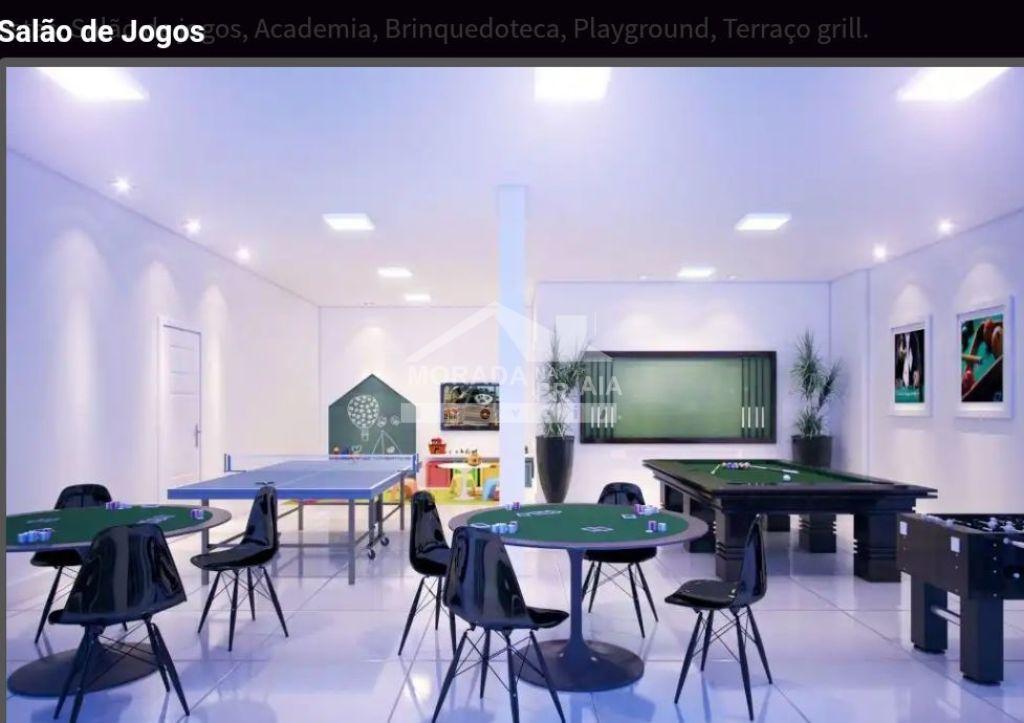 Salão de jogos do apartamento com 2 dormitórios em MIRIM - PRAIA GRANDE