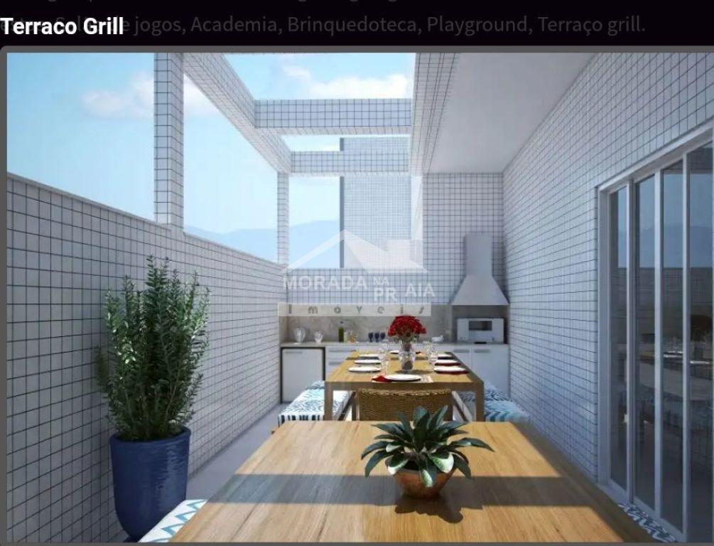 Terraço Grill do apartamento com 2 dormitórios em MIRIM - PRAIA GRANDE