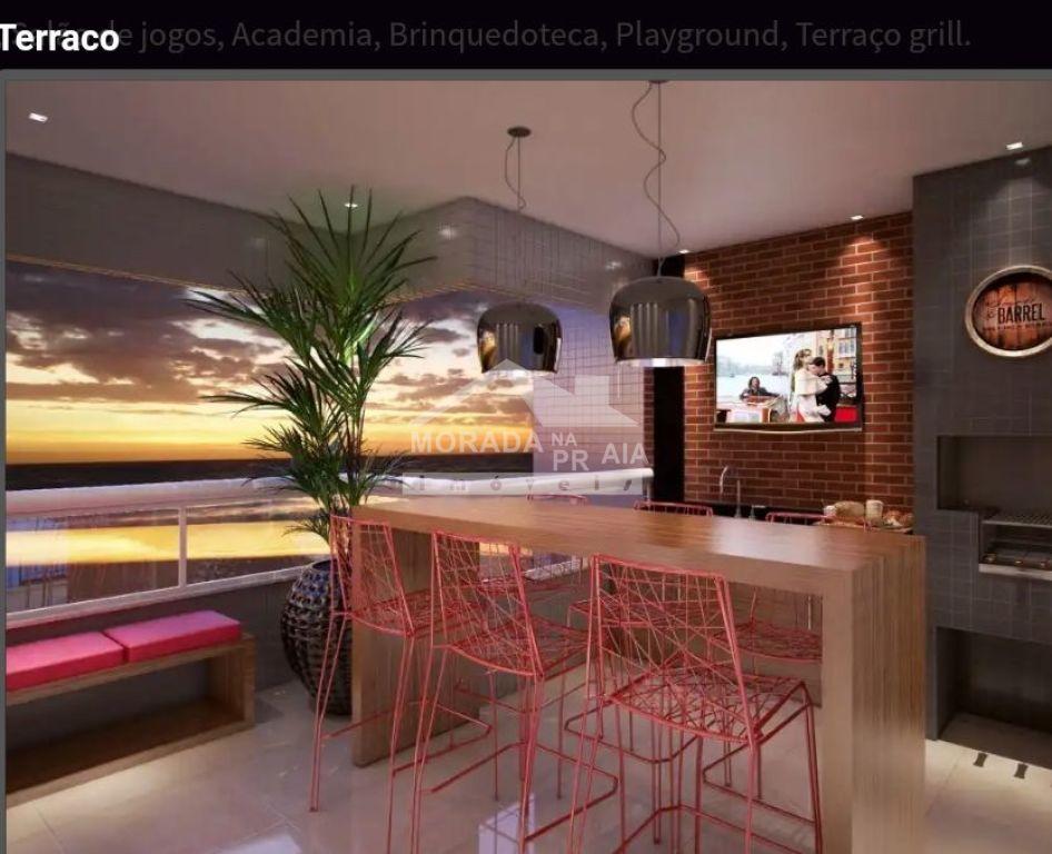 Sacada gourmet do apartamento com 2 dormitórios em MIRIM - PRAIA GRANDE