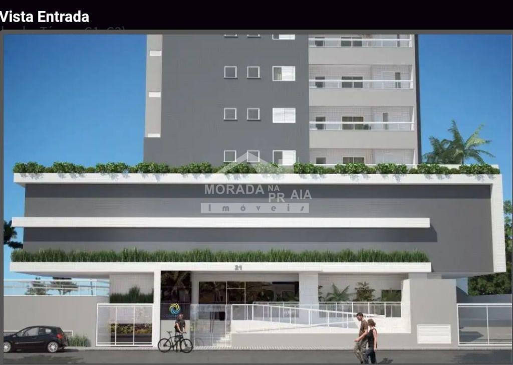 Fachada do prédio do apartamento com 2 dormitórios em MIRIM - PRAIA GRANDE