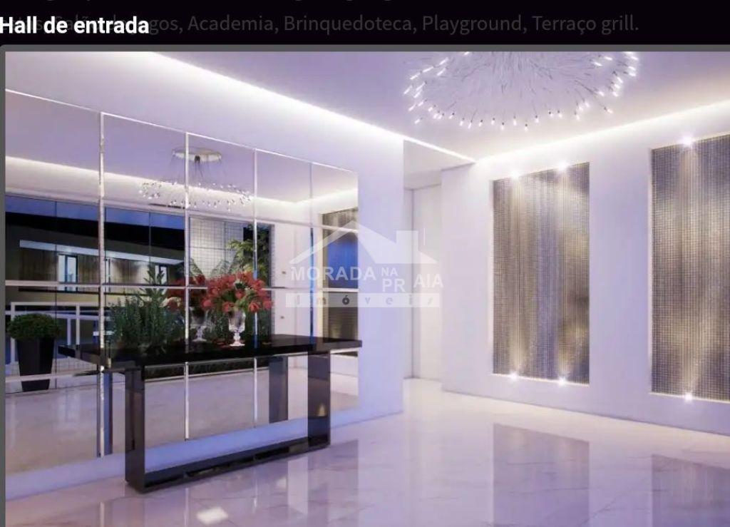 Hall de entrada do apartamento com 2 dormitórios em MIRIM - PRAIA GRANDE