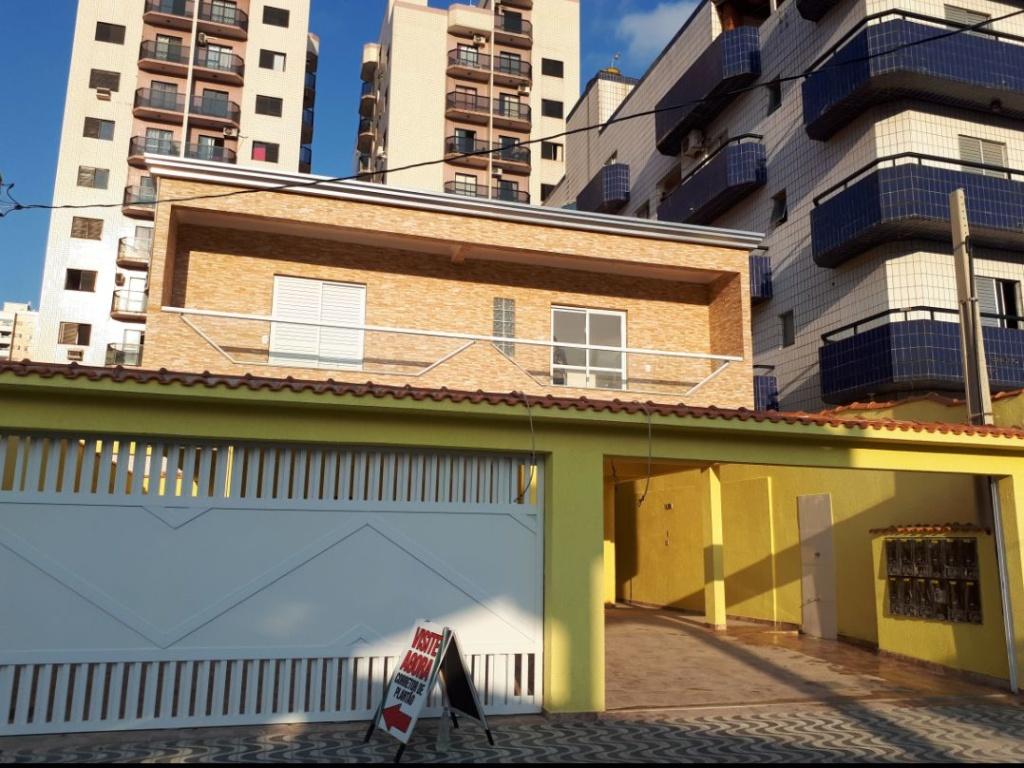 Fachada do condomínio fechado com 2 dormitórios em TUPI - PRAIA GRANDE