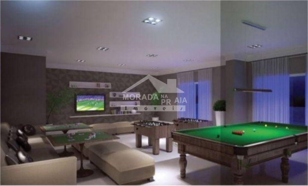 Salão de jogos do apartamento com 2 dormitórios em Vila Tupi - Praia Grande