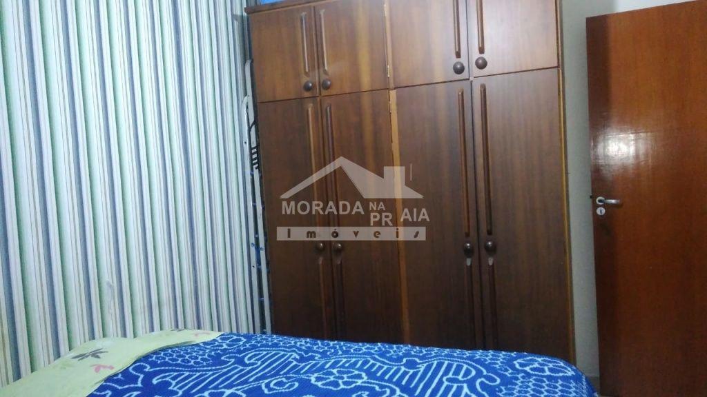 Vista sacada dormitório do apartamento com 3 dormitórios em CANTO DO FORTE - PRAIA GRANDE