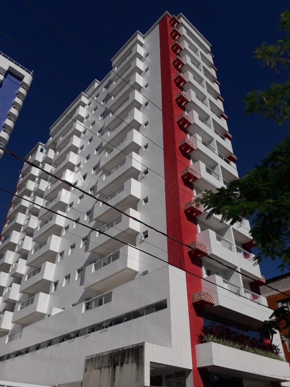 Fachada do apartamento com 1 dormitórios em CANTO DO FORTE - PRAIA GRANDE